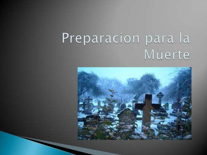 Preparacion para la muerte
