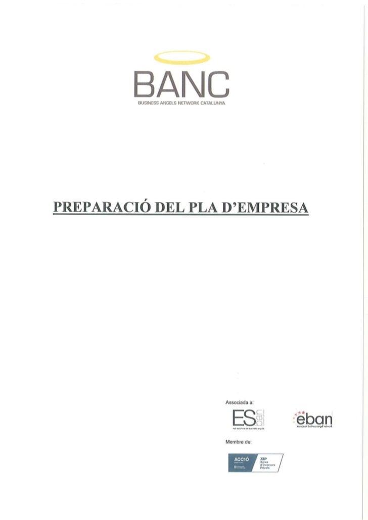 BANC - Preparació pla d'empresa