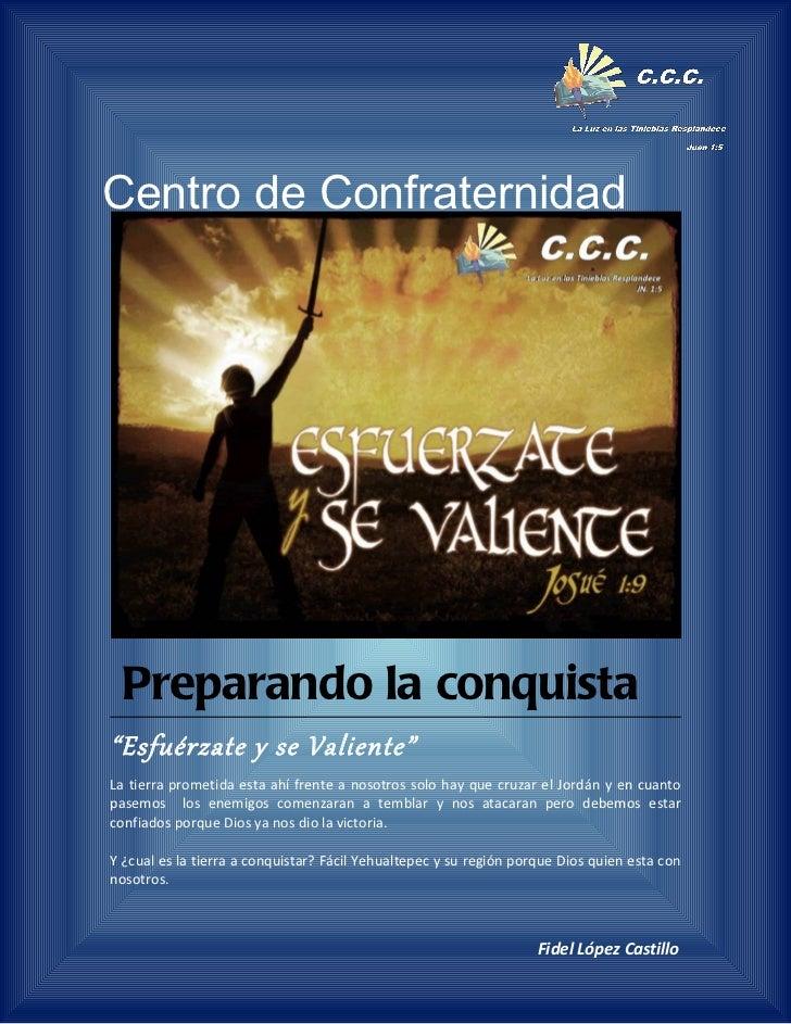 Preparandose para la conquista esfuerzate y se valiente-predica