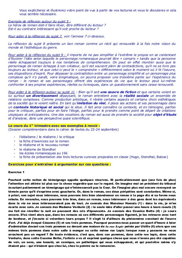 Amorce Sujet Dissertation
