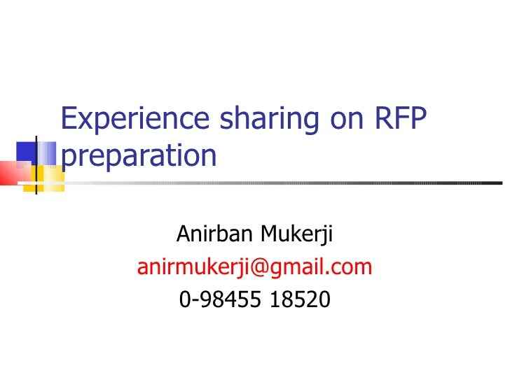 Guidelines for preparation of a RFP for e governance projects