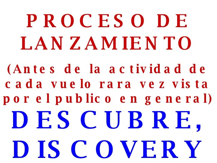 Preparativos Para Lanzar El Discovery
