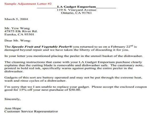 Business communication letter writing