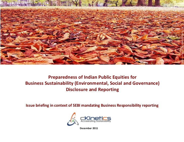 Picture courtesy flicker stream of tamburix          Preparedness of Indian Public Equities forBusiness Sustainability (En...