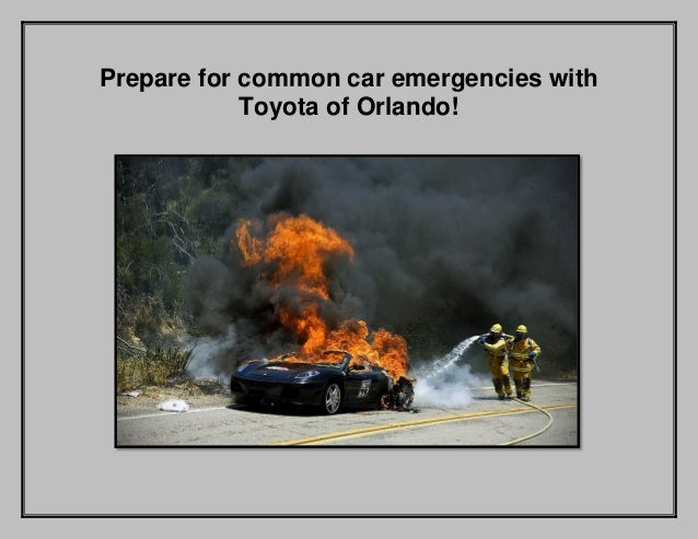 Prepare for common car emergencies with Toyota of Orlando!