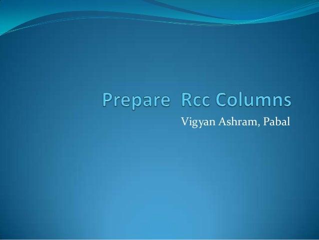 Prepare  rcc columns