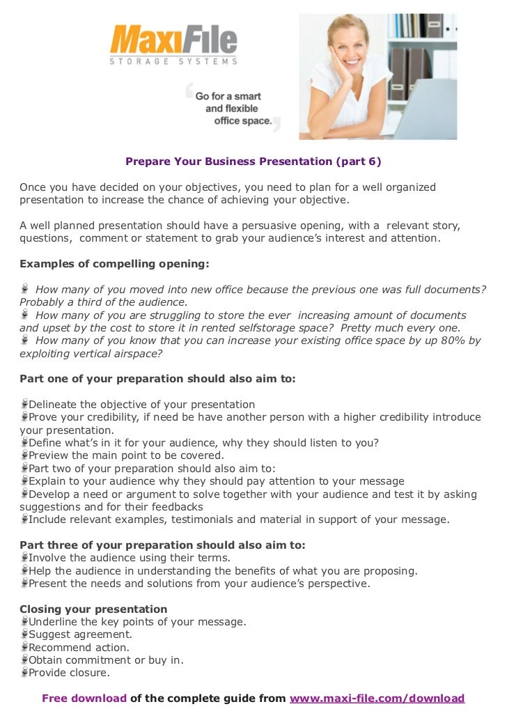 Prepare your business presentation (part 6)