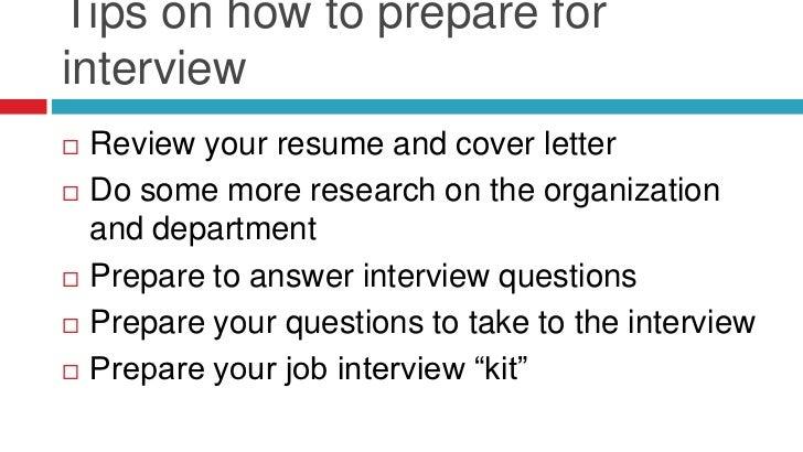 preparing for a job interview essay