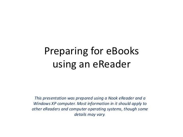 Preparing for e-Books - revised 10-12