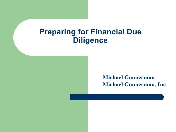 preparing for financial due diligence