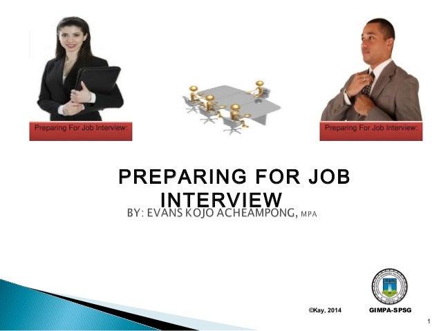 preparing for a job interview pdf