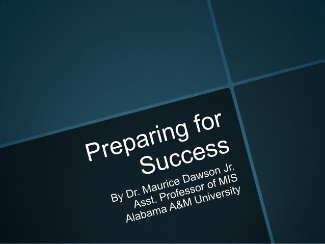 Preparing for Success