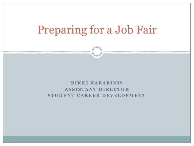 Preparing for the part time job & volunteer fair