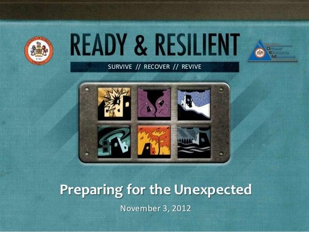 Preparingforthe unexpected 11032012