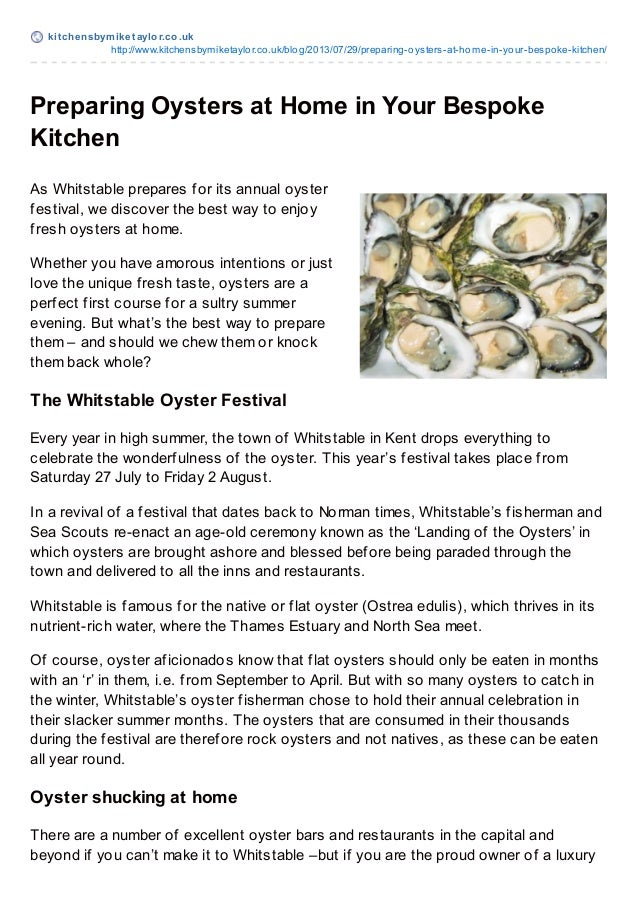 kit chensbymiket aylor.co.uk http://www.kitchensbymiketaylor.co.uk/blog/2013/07/29/preparing-oysters-at-home-in-your-bespo...