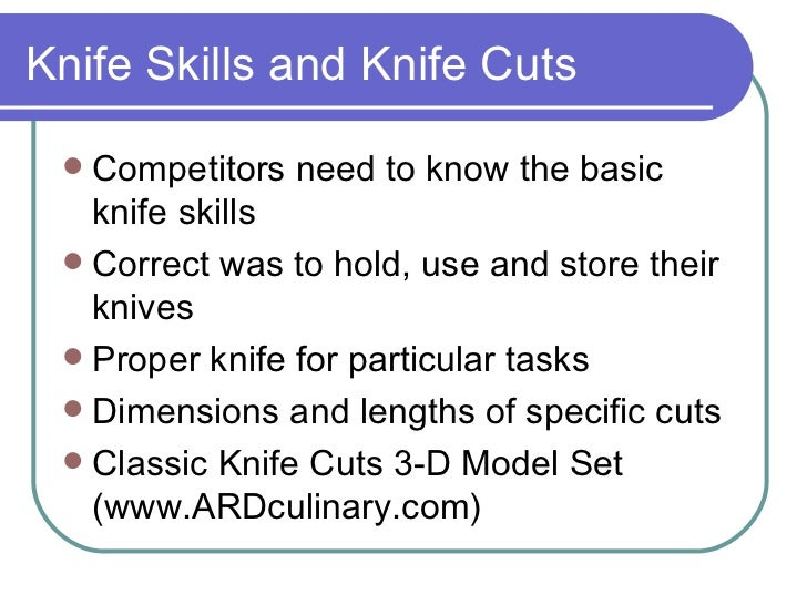 Knife Cut Dimensions Knife Skills And Knife Cuts