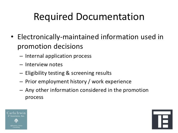 Preparing Your Data For An Affirmative Action Plan: Termination