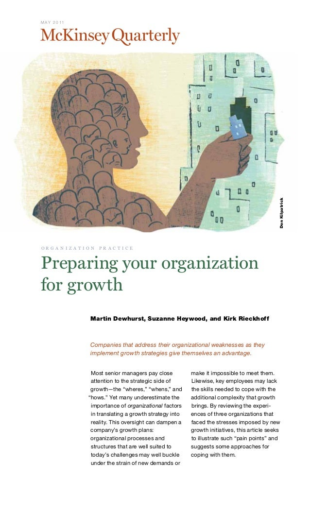 Preparing your organization for growth