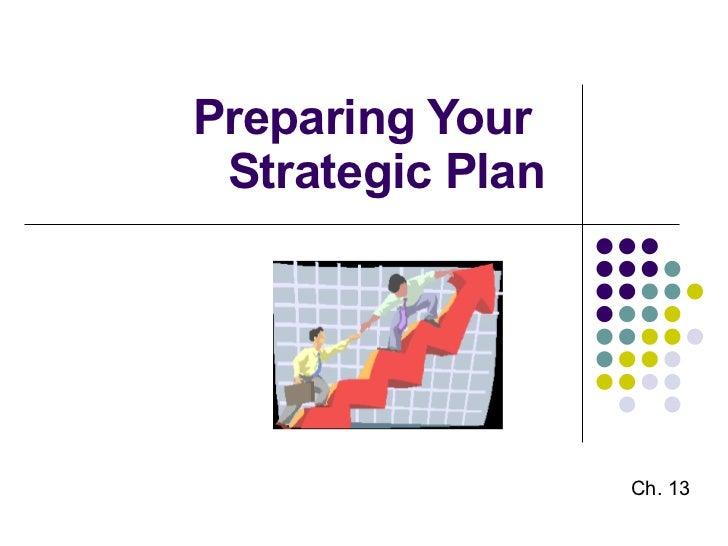 Preparing Your Strategic Plan