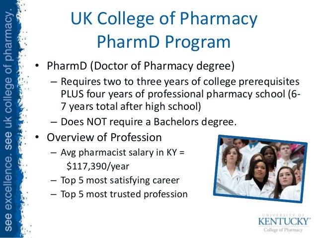 Pharmacy School and Bachelors?