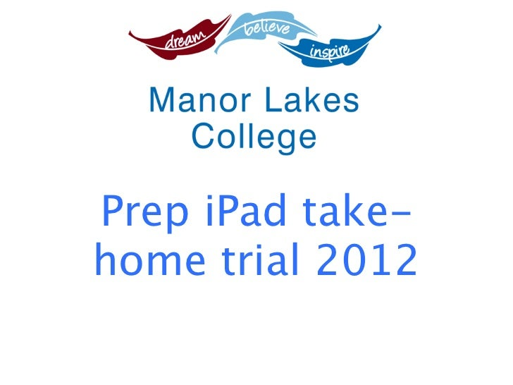 Prep iPad take-home trial 2012