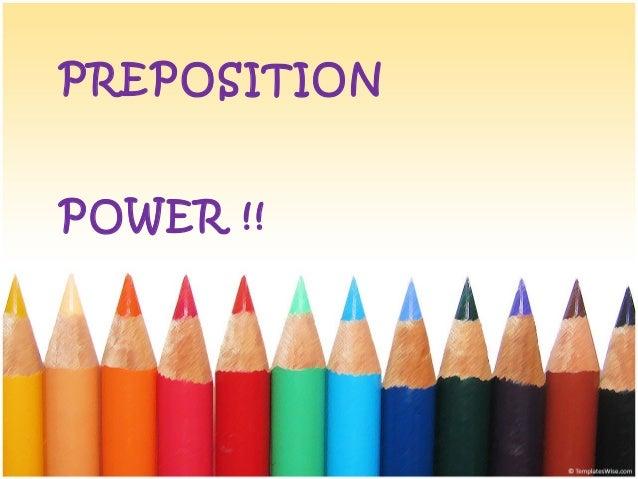 Preposition power-place