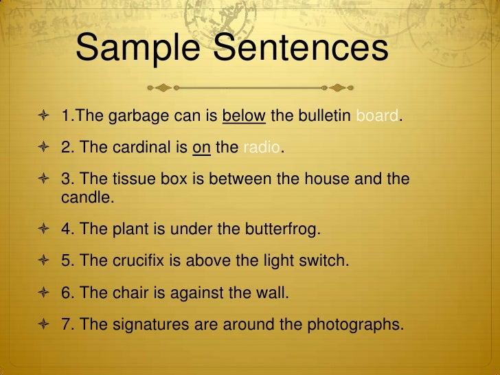 Preposition Sentences Examples