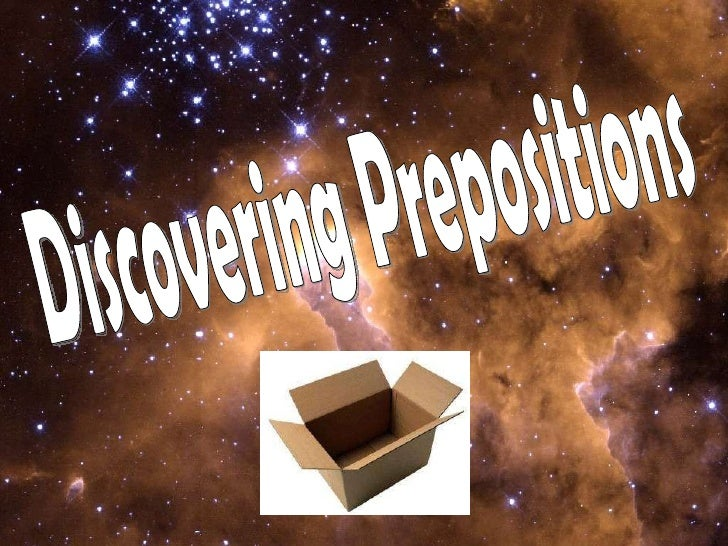 Discovering Prepositions