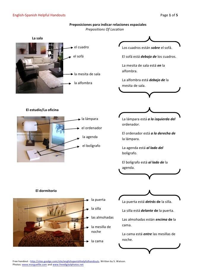 English-Spanish Helpful Handouts                                                                                      Page...
