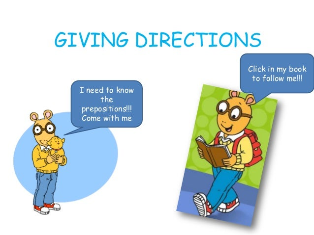 GIVING DIRECTIONSI need to knowtheprepositions!!!Come with meClick in my bookto follow me!!!