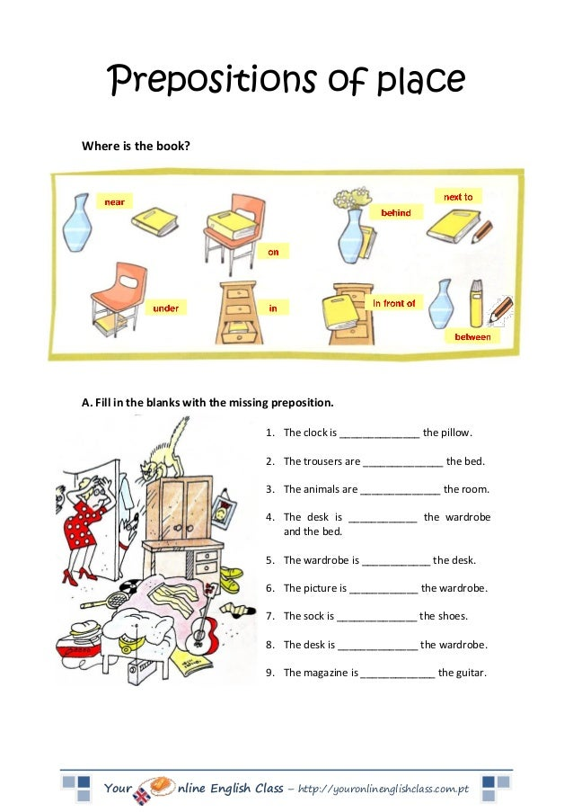 Worksheets on home gt prepositions worksheets preposition of location