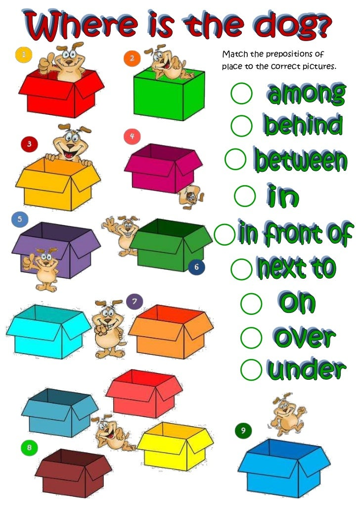 Prepositions of...