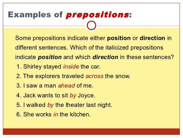categories of prepositions the free dictionary - 638×479