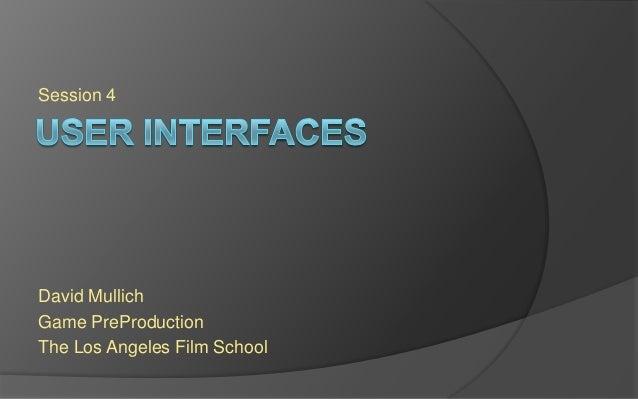 LAFS PREPRO Session 4 - User Interface