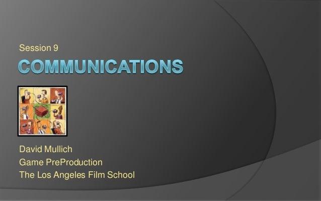 LAFS PREPRO Session 9 - Communications