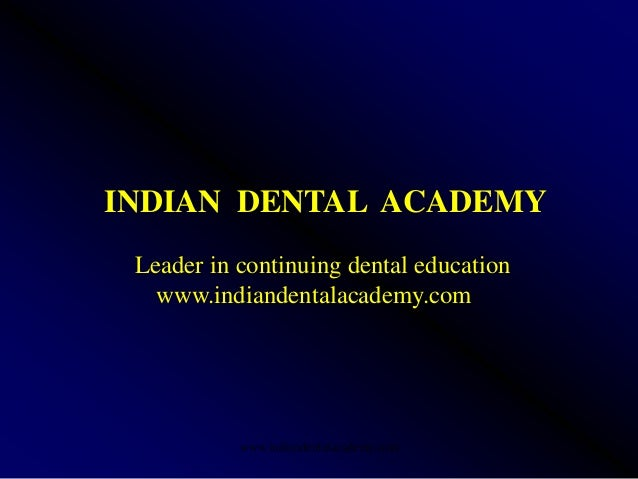 Pre prosthetic surgery 1 (nx power lite) /certified fixed orthodontic courses by Indian dental academy