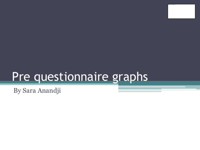 Pre questionnaire graphs  By Sara Anandji