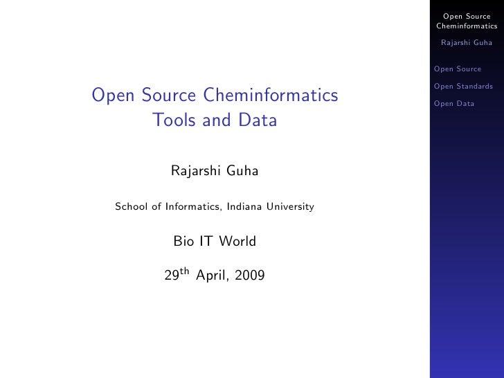 Open Source Cheminformatics