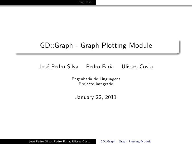 GD::Graph - Graph Plotting Module
