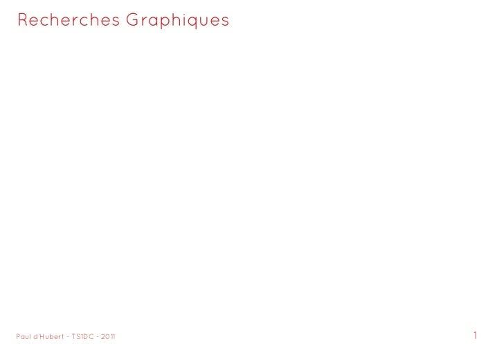 Recherches GraphiquesPaul d'Hubert - TSDC - 20