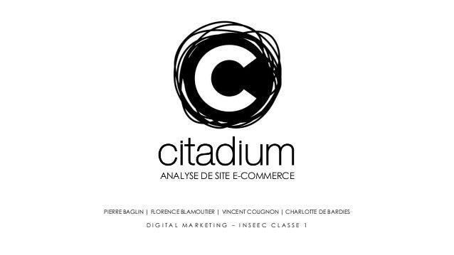 Analyse du site E-commerce de Citadium