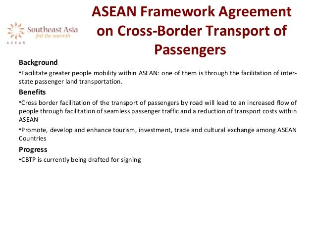 Asean Framework Agreement On CrossBorder Transport Of Passengers