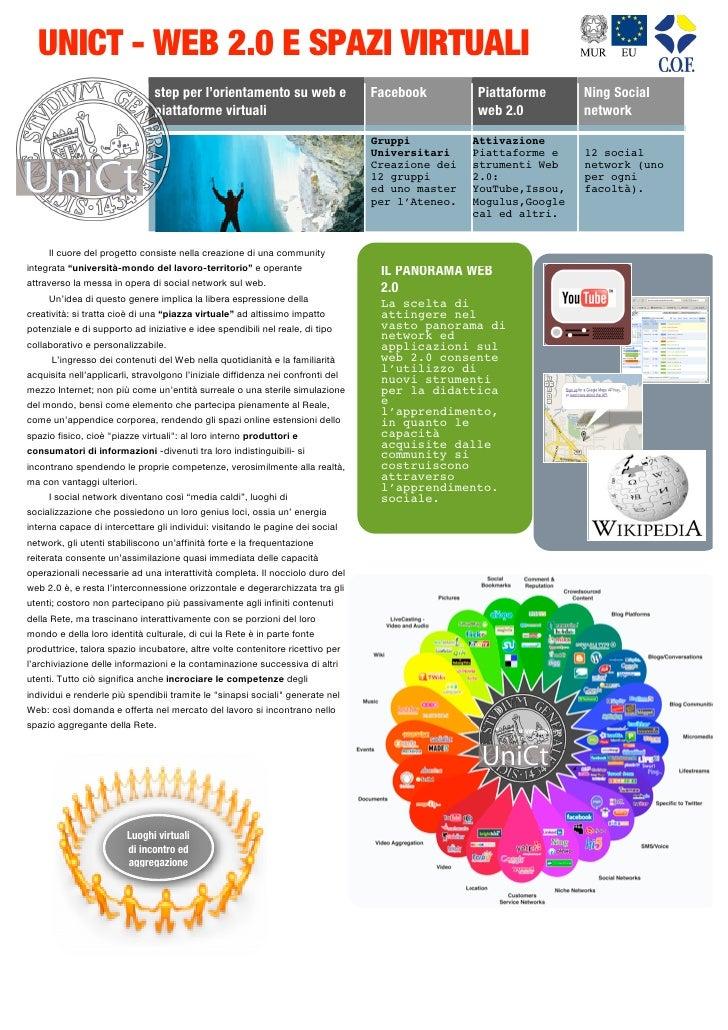 UNICT - WEB 2.0 E SPAZI VIRTUALI                                              step per l'orientamento su web e         ...