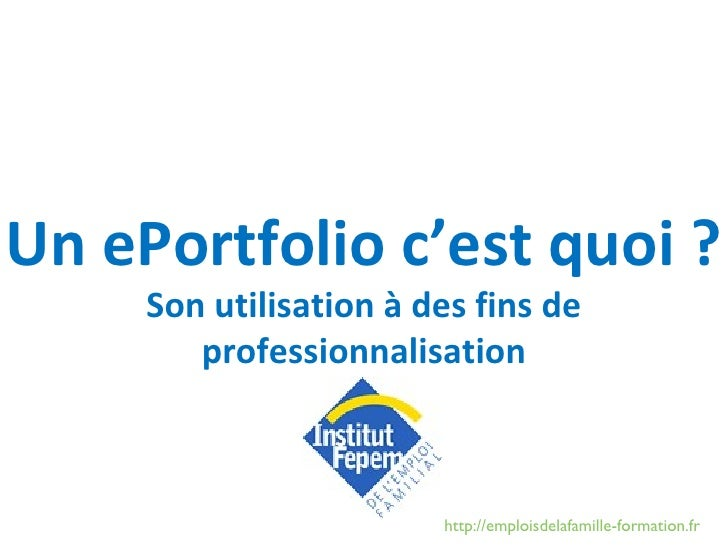l'e-portfolio