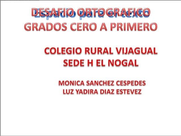 PROYECTO DE ORTOGRAFÍA