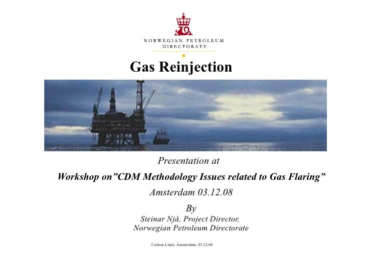 Gas reinjection and flaring reduction Norway's experience - Steinar Nja (Norway Petroleum Directorate)