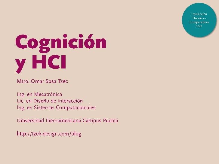 Procesos cognitivos y HCI