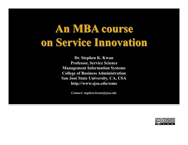 Innovation essay mba