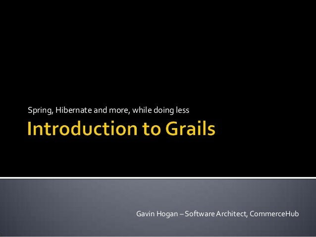 Introduction to Grails 2013
