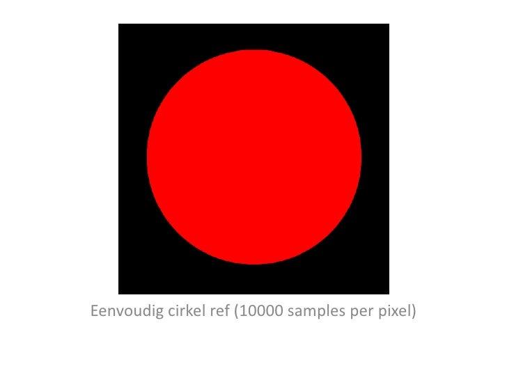 Eenvoudig cirkel ref (10000 samples per pixel)